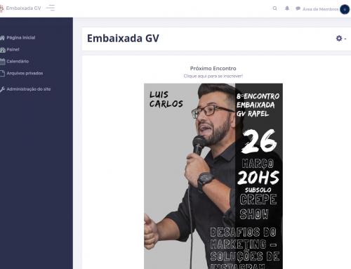 Lançamento da Área de Membros da Embaixada GV RAPEL